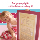 Babyography�<br><font size=-3 face=Times>Birth Certificates and keepsakes range</font>