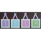 artwork/name plaques Initial Frames