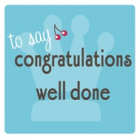 congratulations<br><font size=-3 face=Times>top 10 gift ideas to say congratulations/well done</font>