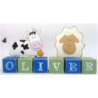 blocks wooden personalised names, date sets & motif blocks