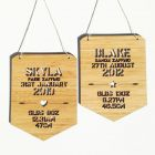 Birth details plaque - Natural Timber / Bamboo Wood
