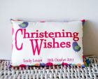 personalised COTTON cushions - For Christenings