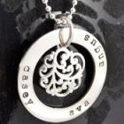 NECKLACES personalised silver and gold for mum women - Handstamped and Engraved