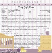 Babyography� Birth Certificate Design 2 (30.5cms x 30.5cms) Purple Unframed/Laminated/Framed/ Canvas or MDF Block Mounted