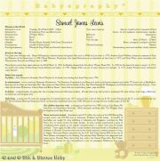 Babyography� Birth Certificate Design 2 (30.5cms x 30.5cms Yellow Unframed/Laminated/Framed/ Canvas or MDF Block Mounted