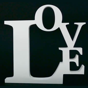 LOVE Inspirational Freestanding Block you choose your own colours