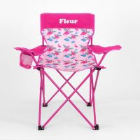 Kids Camp Chair Personalised - Flamingo