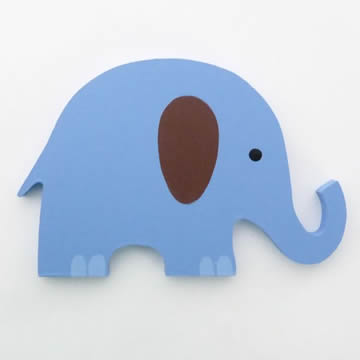 Artwork Hanger Set to display and organise your childs pictures - Elephant
