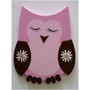 Artwork Hanger Set to display and organise your childs pictures - Owl - Pink and Chocolate