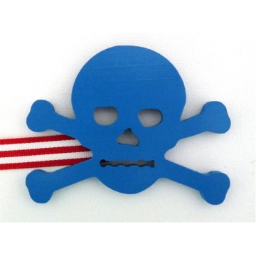 Artwork Hanger Set to display and organise your childs pictures - Pirate Crossbones - Blue