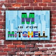 Avengers Personalised name plaque canvas for kids wall art - Rectangular with Background