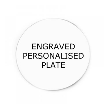 Personalised Backing Plate for Floating Memory Locket - Engraved Personalised Plate