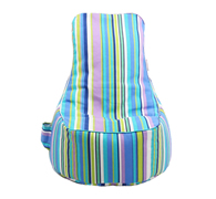 .Bean Bag Chair for Kids, Tweens and Teens - Candy Stripes