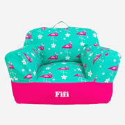 .Bean Bag Chair for Kids - Personalised  - Flamingo