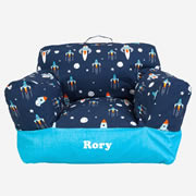 .Bean Bag Chair for Kids - Personalised  - Rocket