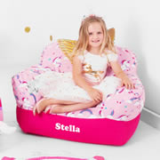 .Bean Bag Chair for Kids - Personalised  - Unicorn