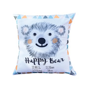 Personalised Birth Cushion for New Baby - Baby Boy - Tribal Bear