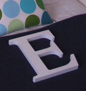 .Custom Made Thick Wooden CAPITAL Letters - PAINTED 25mm thick, 30 cm tall 8 colours available the largest in our range
