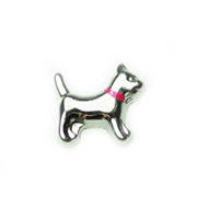 Animal Charm for Floating Memory Locket - Dog with Pink Collar