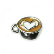 Food Charm for Floating Memory Locket - Coffee with Crema