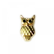 Animal Charm for Floating Memory Locket - Gold Owl