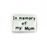 Faith Charm for Floating Memory Locket - In Memory of my Mum
