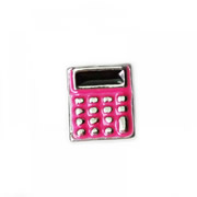Hobbies Charm for Floating Memory Locket - Pink Calculator