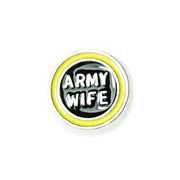 Family Charm for Floating Memory Locket - Army Wife