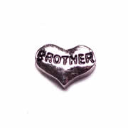 Family Charm for Floating Memory Locket - Brother Heart