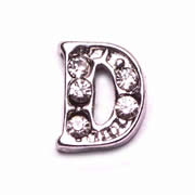 Letters Charm for Floating Memory Locket - D