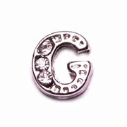 Letters Charm for Floating Memory Locket - G