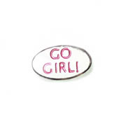 Messages Charm for Floating Memory Locket - Go Girl