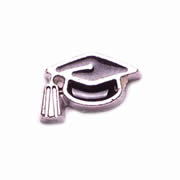 Occupations Charm for Floating Memory Locket - Graduation Hat