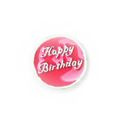 Messages Charm for Floating Memory Locket - Happy Birthday - Pink