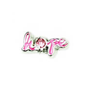 Faith Charm for Floating Memory Locket - Hope - Pink with Sparkle