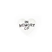 Messages Charm for Floating Memory Locket - In Memory Of Heart