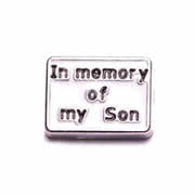 Faith Charm for Floating Memory Locket - In Memory of my Son