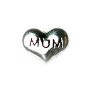 Family Charm for Floating Memory Locket - Mum Puffy Heart