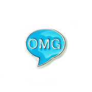 Messages Charm for Floating Memory Locket - OMG Blue