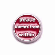 Messages Charm for Floating Memory Locket - Peace Comes from Within