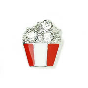 Food Charm for Floating Memory Locket - Popcorn