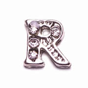 Letters Charm for Floating Memory Locket - R