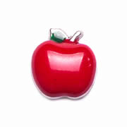 Food Charm for Floating Memory Locket - Red Apple