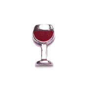 Food Charm for Floating Memory Locket - Red Wine Glass