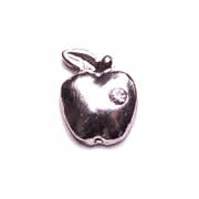 Occupations Charm for Floating Memory Locket - Silver Apple with Crystal