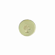 Family Charm for Floating Memory Locket - Small Tree Stamped Disc