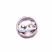 Sport Charm for Floating Memory Locket - Swimming