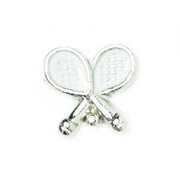 Sport Charm for Floating Memory Locket - Tennis