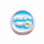 Messages Charm for Floating Memory Locket - You are my Sunshine