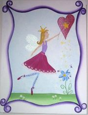 Artwork Childrens Room Decor - Fairy Dust 3 Kids Wall Art Canvas